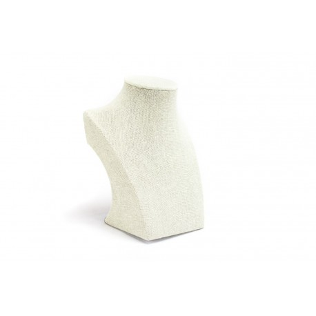 Expositor para collares lino beige 7.5x12.5x16cm