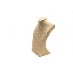 Busto expositor para collares en lino grueso 30 cm