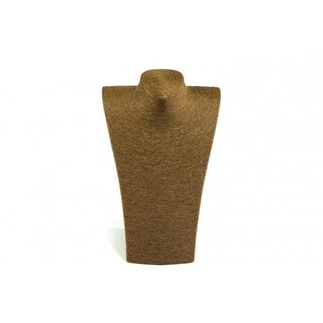 Expositor para collares revestido cuerda marrón 37x23x14cm