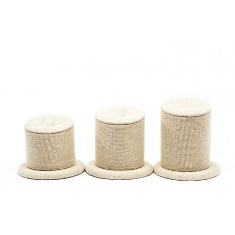 Expositor para anillos lino beige 3 alturas