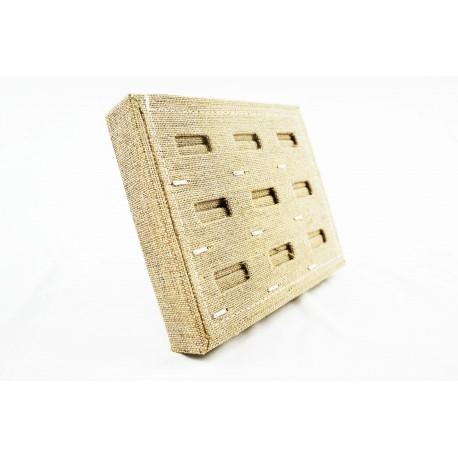Expositor para anillos lino grueso beige 19x15.5x3cm