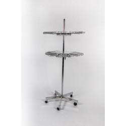 Expositor metálico para bufandas giratorio
