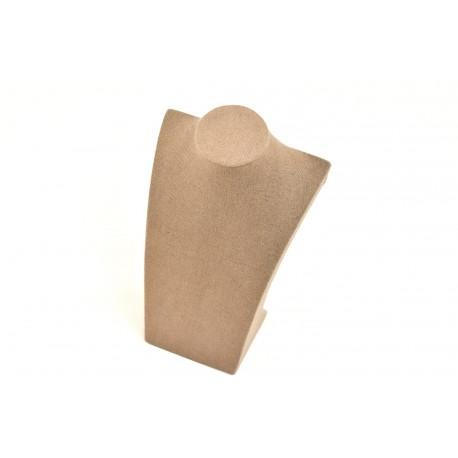 Expositor para collares lino marrón 30x18x10cm