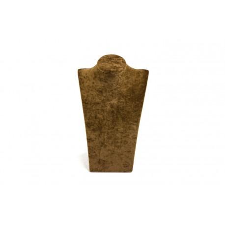 Expositor para collares terciopelo marrón 30x18x10cm