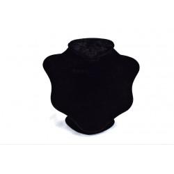 Expositor para collares terciopelo negro grande 26x22x18cm