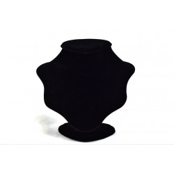Expositores para collares terciopelo negro pequeño 20x23x16cm