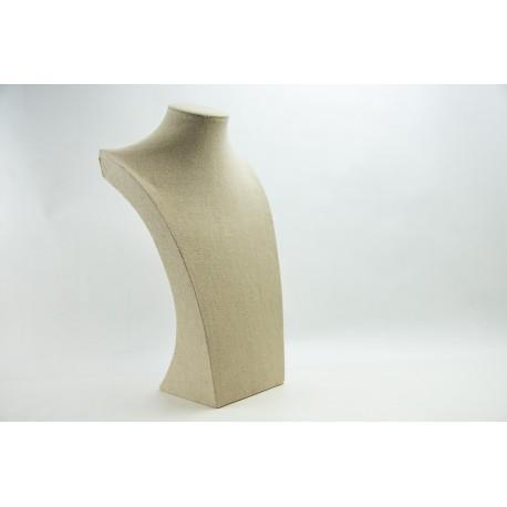 Expositor para collares lino beige 40x24x15cm