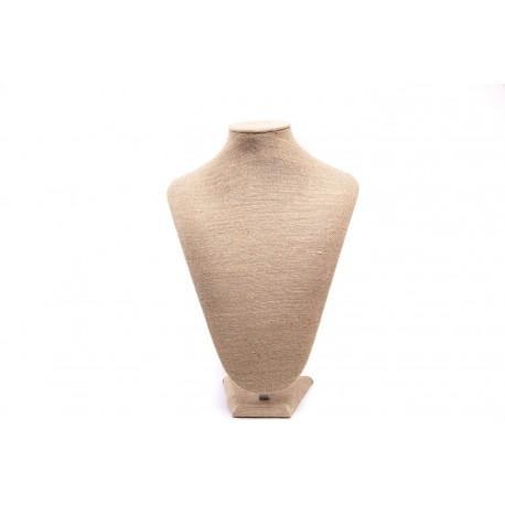 Bustoexpositor de collares en lino grueso 32.5 cm