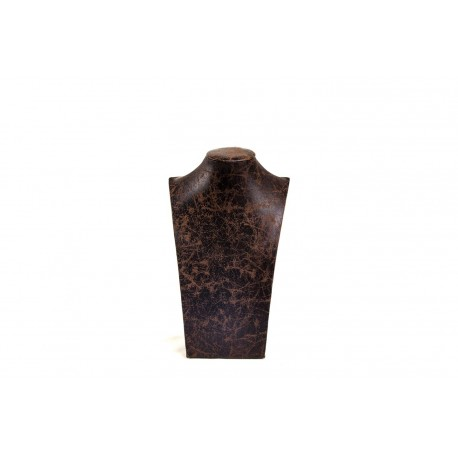 Expositor para collares polipiel marrón grande 29x18x10.5cm