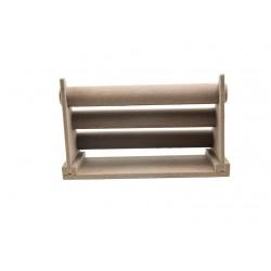 Expositor para pulseras triple lino marrón 26x17x43cm