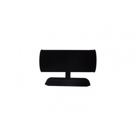 Expositor para diademas en terciopelo negro 28x17x12cm