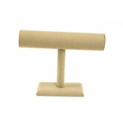 Expositor para pulseras forma T lino beige 24x7.5x19cm