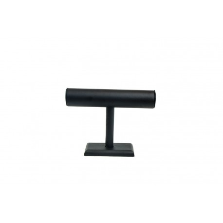 Expositor para pulseras forma T polipiel negra 25x18x7.5cm