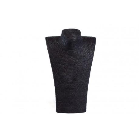 Expositor para collares grande revestido en cuerda negra