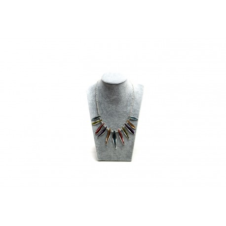 Expositor para collares gris 30x18.5x10cm