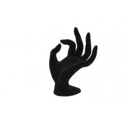 Expositor para anillos forma de mano terciopelo negro
