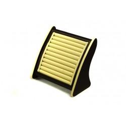 Expositor para anillos polipiel vainilla/chocolate 25x25x15cm