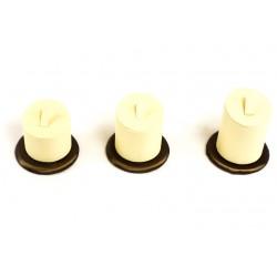 Expositor para anillos polipiel vainilla/chocolate 3 alturas