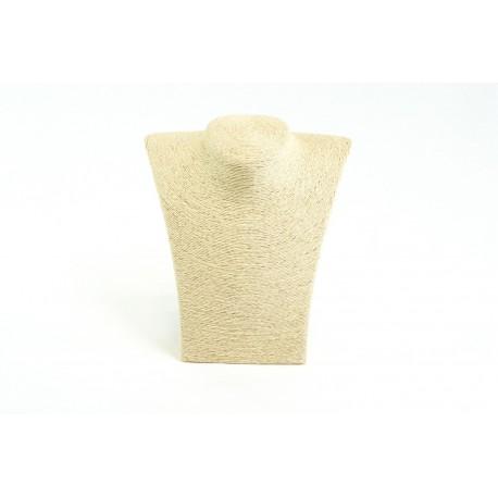 Expositor para collares beige revestido en cuerda 23x20x11cm