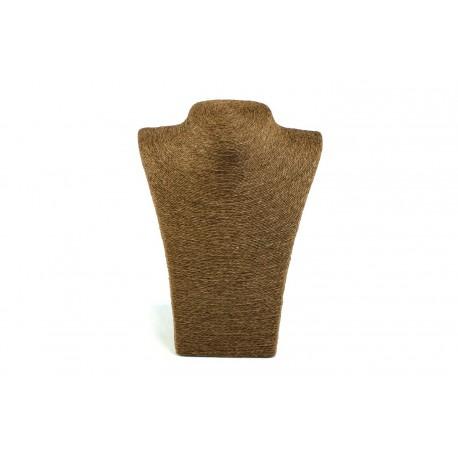 Expositor para collares revestido cuerda marrón 28x12x21cm