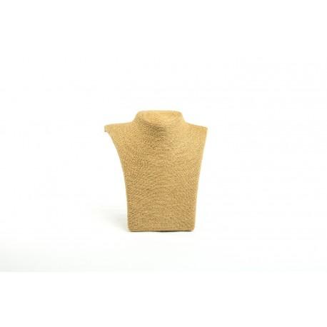 Expositor para collares tostado revestido cuerda