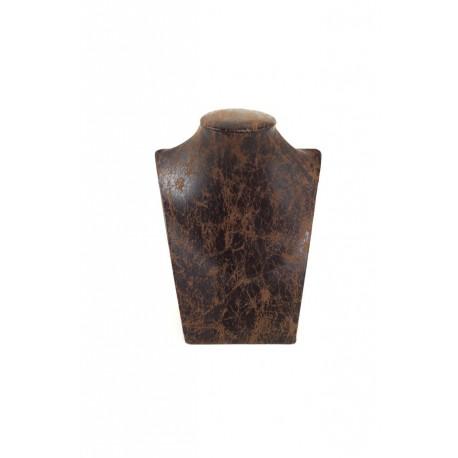 Expositor para collares polipiel marrón 17x12x21cm