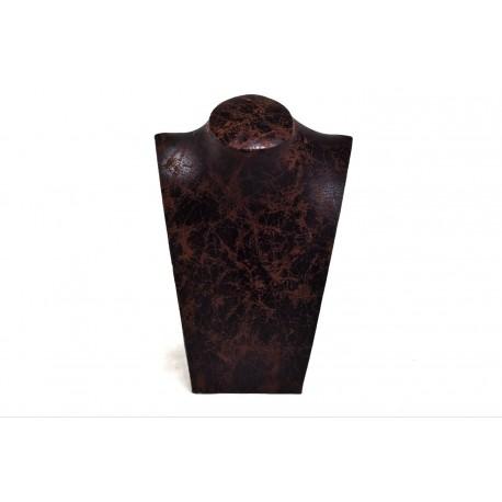 Expositor para collares polipiel marrón 21x15x8.5cm
