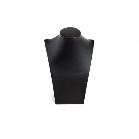 Expositor de collares polipiel negro 21x1.5x85cm