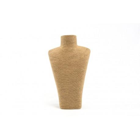 Expositor para collares havana revestido en cuerda 35x10x24.5cm