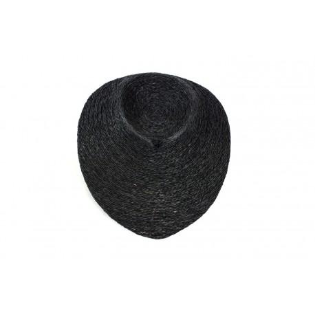 Busto expositor para collares revestido en cuerda negra 9 cm