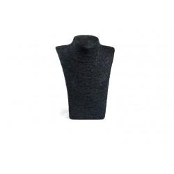 Expositor para collares negro revestido en cuerda 29x21x13cm