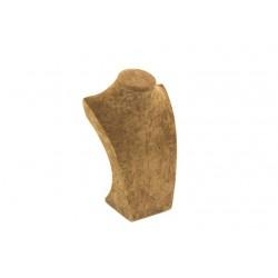 Expositor para collares terciopelo marrón 26x9.5x16.5cm