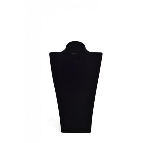 Busto expositor para collares en terciopelo negro 39 cm