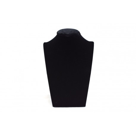 Expositor para collares terciopelo negro 18x13x7.5cm