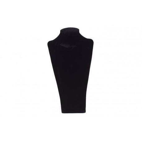 Expositores para collares terciopelo negro 24x13x8.5cm