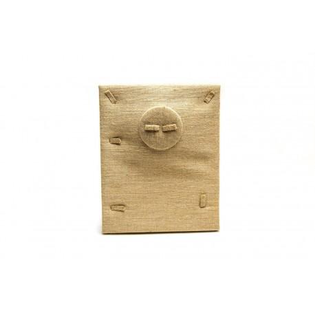Expositor para bisutería lino grueso 25x20x10cm
