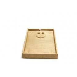Expositor para conjunto de joyería lino grueso 27.5x20x8cm