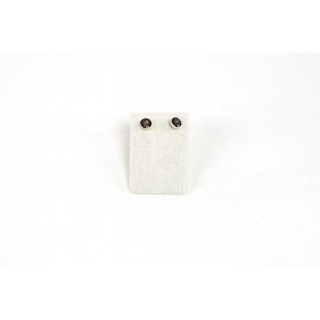 Expositor para pendientes lino beige 7x2.5x5cm