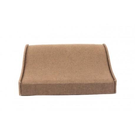 Expositor para pulseras lino marrón 20x20x6cm