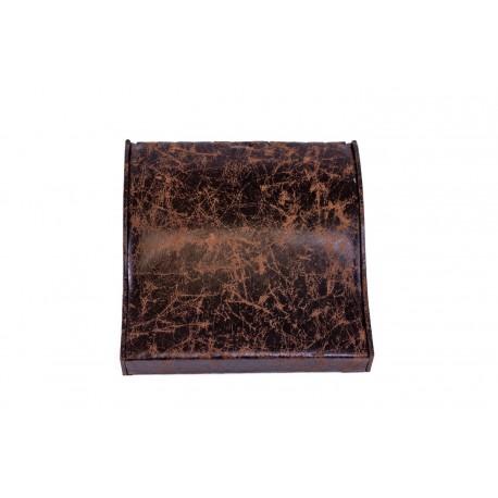 Bandeja expositora de pulseras en polipiel veteado marrón