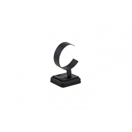 Expositor de reloj en polipiel negro