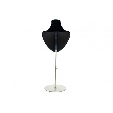 Expositor para collares regulable terciopelo negro