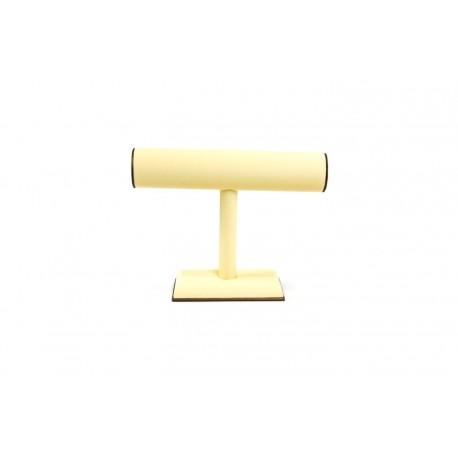 Expositor para pulseras en polipiel vainilla/chocolate 19x24 cm