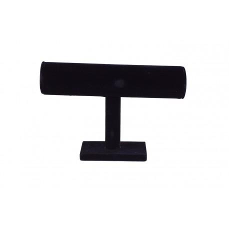 Expositor para pulseras forma T terciopelo negro