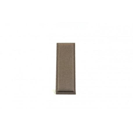 Expositor para pulseras vertical en lino marron