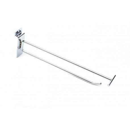 Gancho soporte con porta precios para lama 35cm 6mm