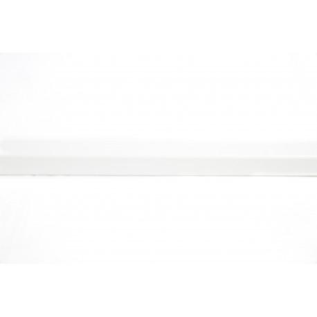 Guardavivo mdf color blanco para panel de lamas 240cm