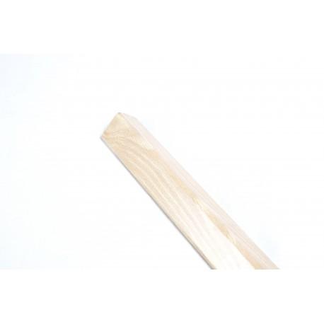 Guardavivo de madera mdf haya para paneles de lamas 240cm