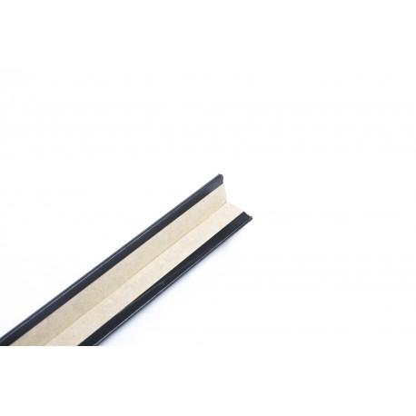 Guardavivo de mdf color negro de 240cm