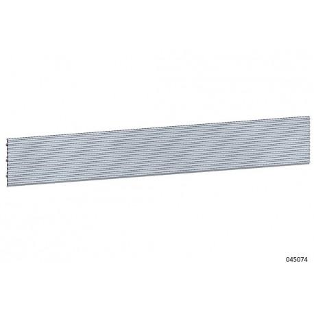 Panel de Lamas de aluminio color gris estándar 16x300cm